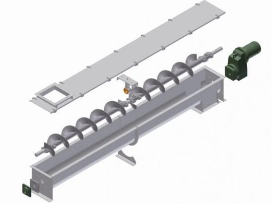 Screw Conveyor Exploded View Diagram