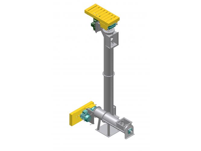 Vertical Screw Conveyor Diagram